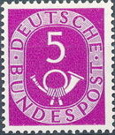 Germany, Federal Republic 1951 Posthorn and Numbers c