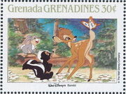 Grenada Grenadines 1988 The Disney Animal Stories in Postage Stamps 1b