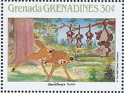 Grenada Grenadines 1988 The Disney Animal Stories in Postage Stamps 1c