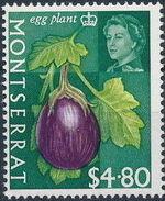 Montserrat 1965 Fruit & Vegetables and Portrait of Queen Elizabeth II q