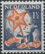 Netherlands 1933 Child Welfare Societies Surtax - Child Carrying the Star of Hope a