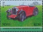 Nevis 1985 Leaders of the World - Auto 100 (3rd Group) v