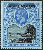 """Ascension 1922 Stamps of St. Helena Overprinted """"ASCENSION"""" k"""