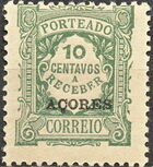 Azores 1924 Postage Due Stamps of Portugal Overprinted (3rd Group) c