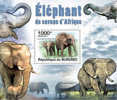 Burundi 2011 Elephants of the African Savanna SSc