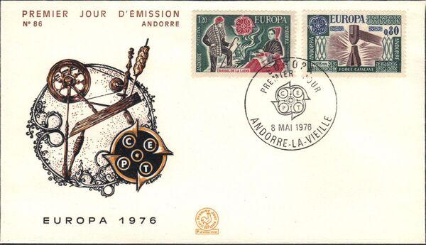 Andorra-French 1976 Europa e