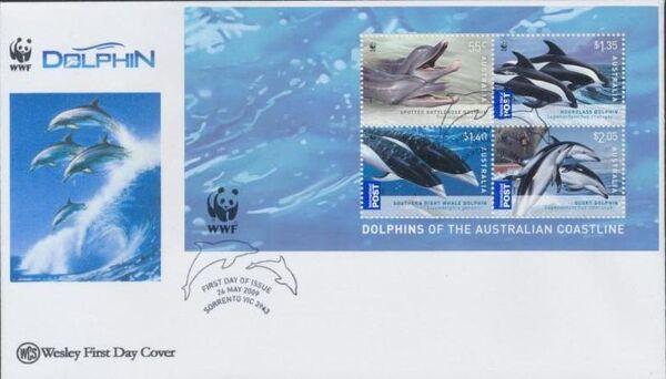 Australia 2009 WWF - Dolphins of the Australian Coastline FDCk