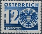 Austria 1935 Coat of Arms and Digit f