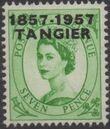British Offices in Tangier 1957 Centenary Overprint (1857-1957) j