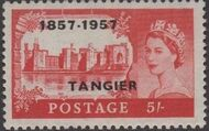 British Offices in Tangier 1957 Centenary Overprint (1857-1957) s