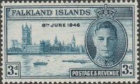 Falkland Islands 1946 Peace Issue b
