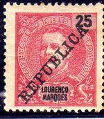 Lourenço Marques 1911 D. Carlos I Overprinted f