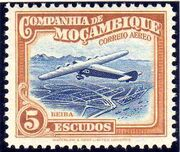 Mozambique Company 1935 Inauguration of the Airmail (2nd Issue) m