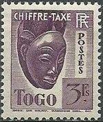 Togo 1941 Postage Due j