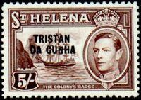 Tristan da Cunha 1952 Stamps of St. Helena Overprinted k