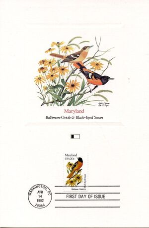 United States of America 1982 State birds and flowers FOLc2