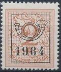 Belgium 1964 Heraldic Lion with Precancellations a
