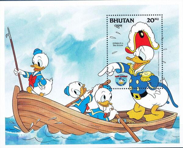 Bhutan 1984 50th Anniversary of Donald Duck p