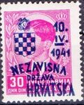 Croatia 1941 Anniversary of Independence o
