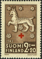 Finland 1943 Coats of Arms - Finnish Red Cross b