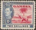 Gambia 1938 King George VI and Elephant (1st Group) h.jpg