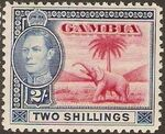 Gambia 1938 King George VI and Elephant (1st Group) h