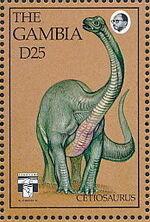 Gambia 1992 Dinosaurs o