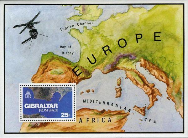 Gibraltar 1978 Gibraltar from Space d