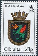 Gibraltar 1985 Royal Navy Crests 4th Group c
