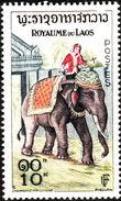 Laos 1958 Elephants f