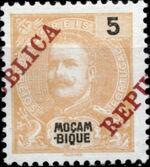Mozambique 1911 D. Carlos I Overprinted bb