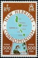 New Hebrides Condominium-British 1978 Map of New Hebrides d