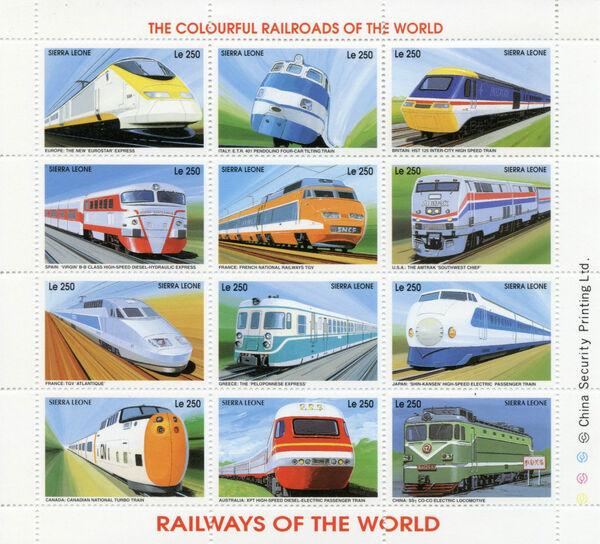 Sierra Leone 1995 Railways of the World Sc