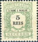 St Thomas and Prince 1904 Postage Due Stamps (S.THOMÉ) a
