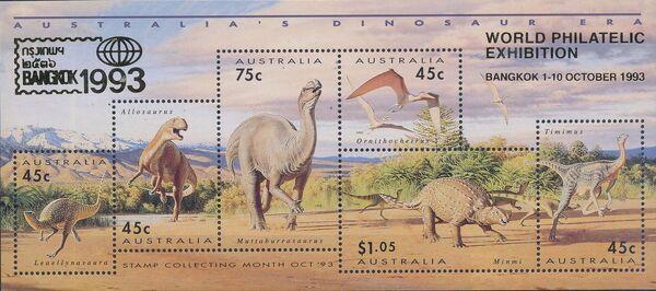 Australia 1993 Australia's Dinosaur Era j