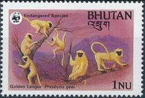 Bhutan 1984 WWF - Golden Langur b
