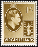 British Virgin Islands 1938 George VI and Seal of the Colony h