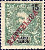 Cape Verde 1911 D. Carlos I Overprinted d
