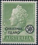 Christmas Island 1958 Queen Elizabeth II i