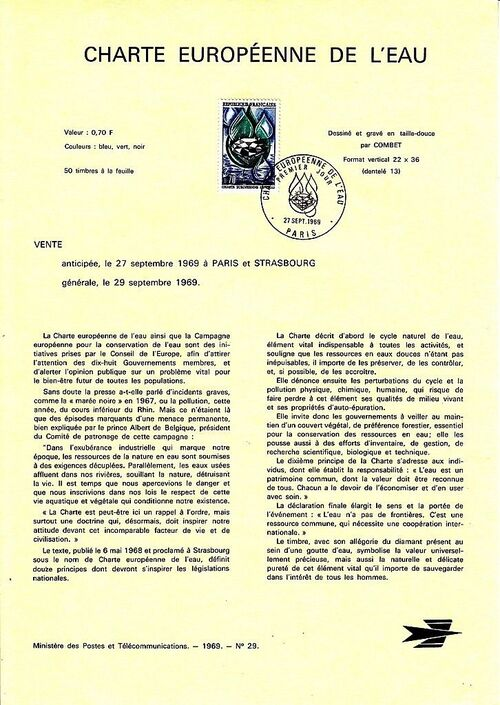 France 1969 European Water Charter IOPa