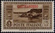 Italy (Aegean Islands)-Castelrosso 1932 50th Anniversary of the Death of Giuseppe Garibaldi h