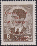Montenegro 1941 Yugoslavia Stamps Surcharged under Italian Occupation p