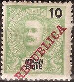 Mozambique 1911 D. Carlos I Overprinted c