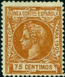 Spanish Guinea 1905 Alfonso XIII j