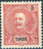Timor 1903 D. Carlos I - New Values and Colors b