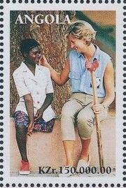 Angola 1998 1st Anniversary of the Death of Diana (3rd Group) a