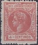 Elobey, Annobon and Corisco 1905 King Alfonso XIII d