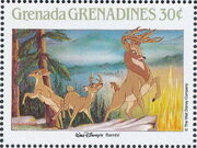 Grenada Grenadines 1988 The Disney Animal Stories in Postage Stamps 1h