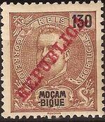 Mozambique 1911 D. Carlos I Overprinted k