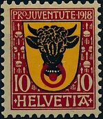 Switzerland 1918 PRO JUVENTUTE - Coat of Arms a